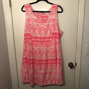 Forever 21 Pink and White printed dress size 3X